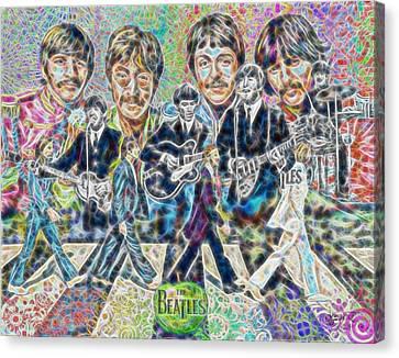 Beatles Tapestry Canvas Print