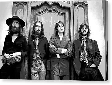 Beatles Together For Last Time Canvas Print by Daniel Hagerman