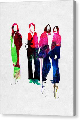 Beatles Watercolor Canvas Print by Naxart Studio