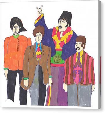 Beatles Yellow Submarine Canvas Print