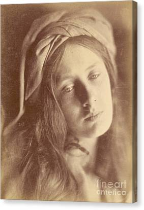 Beatrice Canvas Print by Julia Margaret Cameron
