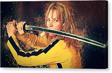 Death Proof Canvas Print - Beatrix Kiddo - Kill Bill by Taylan Apukovska