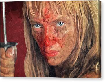 Death Proof Canvas Print - Beatrix Kiddo by Taylan Apukovska