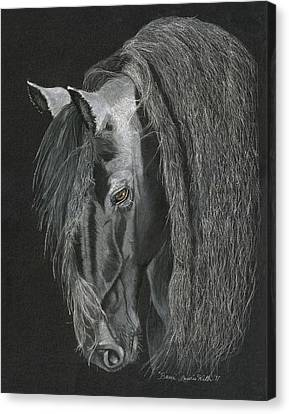 Horse Pastels Canvas Print - Beau by Laurie With