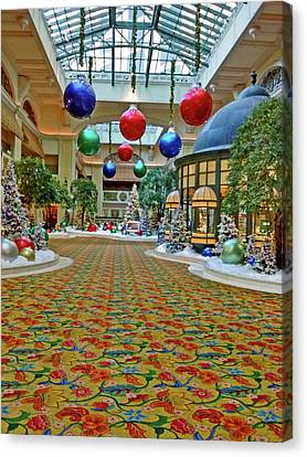 Decorated For Christmas Canvas Print - Beau Rivage Decorated For Chritmas by Marian Bell