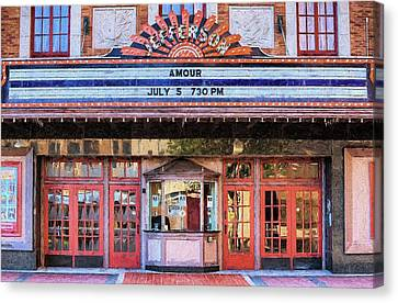 Canvas Print featuring the digital art Beaumont Jefferson Theater by JC Findley