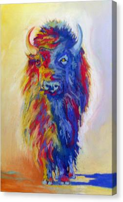 Canvas Print featuring the pastel Beaus Buffalo by Pat Crowther