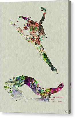 Beautiful Ballet Canvas Print by Naxart Studio