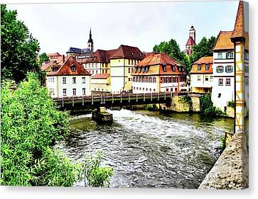 Beautiful Bamberg On The River Canvas Print
