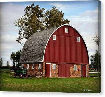 Beautiful Barn And Antique Wagon Canvas Print