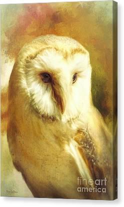Beautiful Barn Owl Canvas Print by Tina LeCour