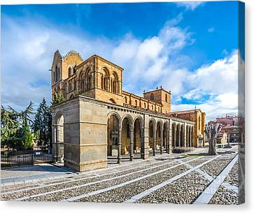 Medieval Temple Canvas Print - Beautiful Basilica De San Vicente, Avila, Castilla Y Leon, Spain by JR Photography