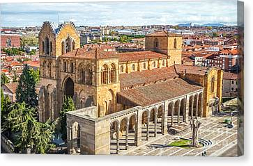 Medieval Temple Canvas Print - Beautiful Basilica De San Vicente In Avila by JR Photography