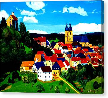 Beautiful Bavarian Village Canvas Print