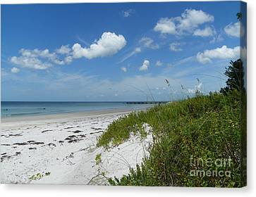 Canvas Print featuring the photograph Beautiful Beach Day by Carol  Bradley
