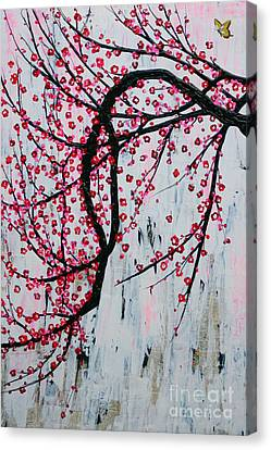 Canvas Print featuring the painting Beautiful Blossoms by Natalie Briney