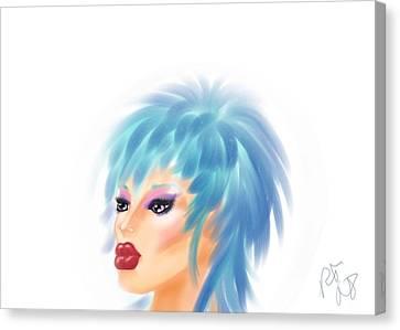 Beautiful Blue Canvas Print by Ronald Terrel