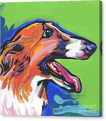 Sight Hound Canvas Print - Beautiful Borzoi by Lea S