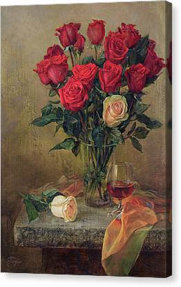 Beautiful Bouquet Of Roses Canvas Print