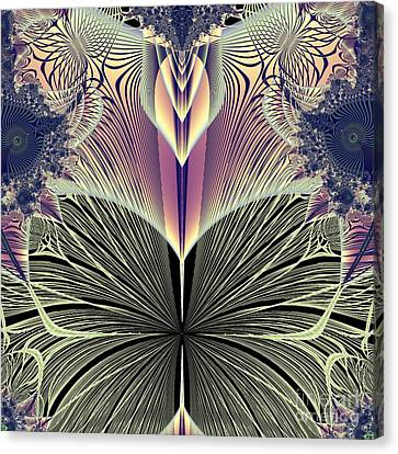 Dance Ballet Roses Canvas Print - Beautiful Butterfly Ballet Fractal by Rose Santuci-Sofranko
