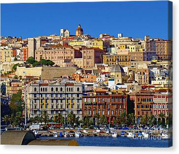 Canvas Print featuring the photograph Beautiful Cagliari by Sue Melvin