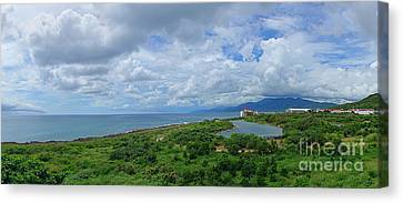 Canvas Print featuring the photograph Beautiful Coastline Of Southern Taiwan by Yali Shi