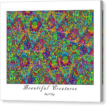 Beautiful Creatures Canvas Print by Betsy Knapp