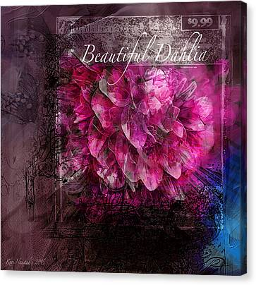 Beautiful Dahlia Canvas Print by Kari Nanstad