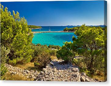 Beautiful Emerald Beach On Murter Island Canvas Print by Brch Photography
