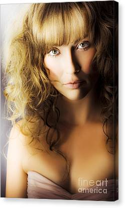 Wavy Canvas Print - Beautiful Fashion Model by Jorgo Photography - Wall Art Gallery