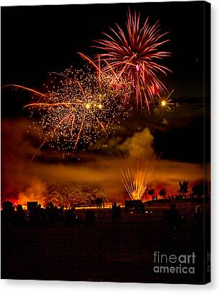 Beautiful Fireworks Canvas Print by Robert Bales