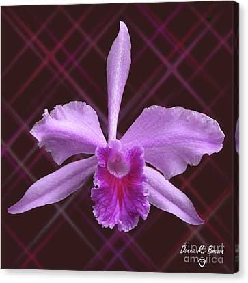 Canvas Print featuring the photograph Beautiful Floating Orchid by Donna Brown
