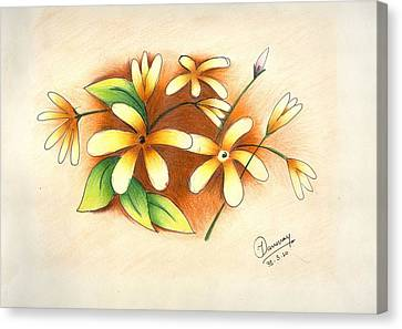 Beautiful Flowers Canvas Print by Tanmay Singh