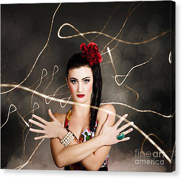 Beautiful Girl In Retro Fashion Style Canvas Print by Jorgo Photography - Wall Art Gallery