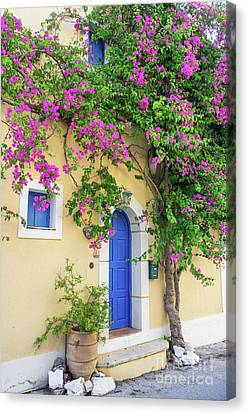 Beautiful Greek House Canvas Print by Gelner Tivadar