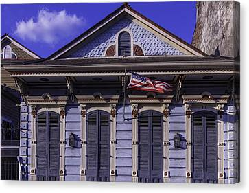 Beautiful House French Quarter Canvas Print by Garry Gay