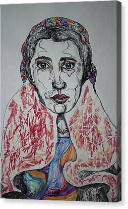 Beautiful Lady Canvas Print by Kathleen OHagan