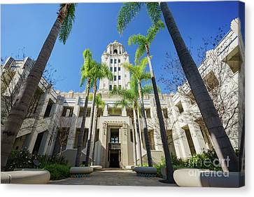 Beautiful Main Building Of Beverly Hills City Hall Canvas Print