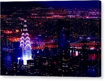Chrysler Building Canvas Print - Beautiful Manhattan Skyline by Az Jackson