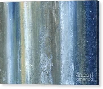 Beautiful Navy Blue And Gray Original Abstract Acrylic Painting Lakewood By Megan Duncanson Canvas Print