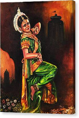 Beautiful Odissi Indian Dancer Canvas Print