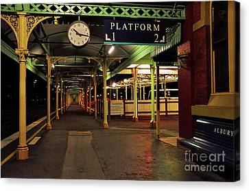 Canvas Print featuring the photograph Beautiful Old Albury Station By Kaye Menner by Kaye Menner