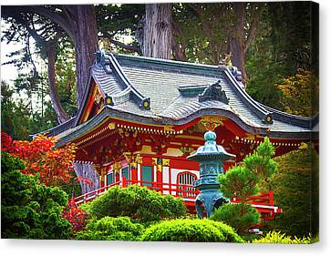 Wooden Building Canvas Print - Beautiful Pogaha Golden Gate Park by Garry Gay