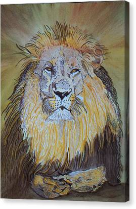 Beautiful Pose Of The King Canvas Print by Connie Valasco