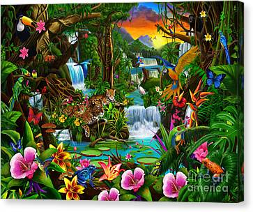 Beautiful Rainforest Canvas Print by Gerald Newton