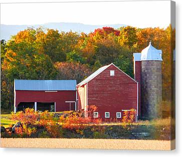 Beautiful Red Barn 2 Canvas Print by Lanjee Chee