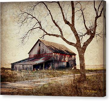 Beautiful Red Barn-near Ogden Canvas Print by Kathy M Krause