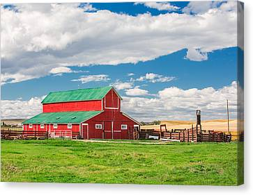 Beautiful Red Barn Canvas Print by Todd Klassy
