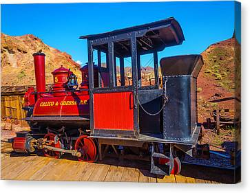 Beautiful Red Calico Train Canvas Print by Garry Gay