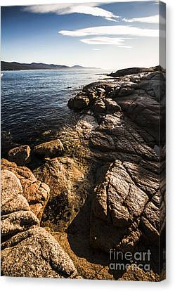 Beautiful Rock Covered Coastline Canvas Print by Jorgo Photography - Wall Art Gallery